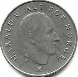 錢幣 > 1克朗, 1992-1996 - 挪威  - obverse