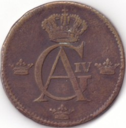 Монета > ½скилинг, 1802-1809 - Швеция  - obverse