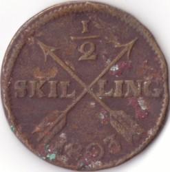 Монета > ½скилинг, 1802-1809 - Швеция  - reverse