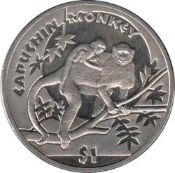 Moneta > 1dollaro, 2009 - Sierra Leone  (Scimmie - Scimmia cappuccina ) - reverse
