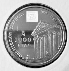 Монета > 1000песет, 1998 - Испания  (20 лет Конституции Испании) - reverse