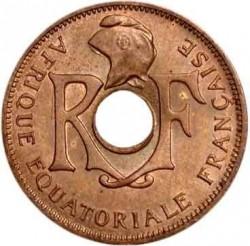 Moneta > 25centymów, 1943 - Francuska Afryka Równikowa  - obverse