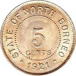 Moneda > 5cents, 1903-1941 - Borneo del Nord  - reverse