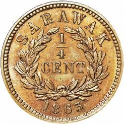 Moneta > ¼cent, 1863 - Sarawak  - reverse