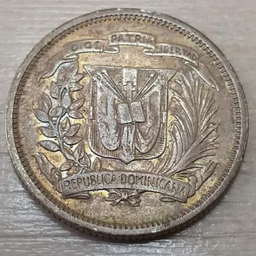 25 Centavos 1937 1961 Dominican