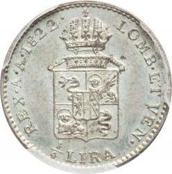 Moneta > ¼liros, 1822-1824 - Lombardija-Venecija  - reverse