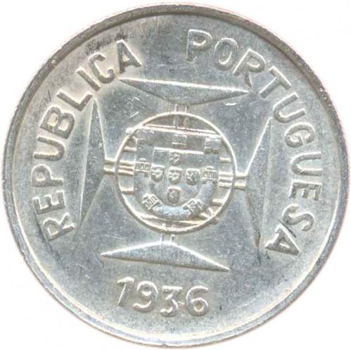 ½ Rupie 1936 Portugiesisch Indien Münzen Wert Ucoinnet