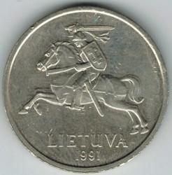 Minca > 5litas, 1991 - Litva  - reverse