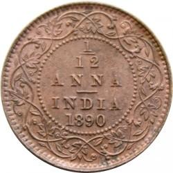 Moneta > 1/12anos, 1877-1901 - Indija - Britų  - reverse