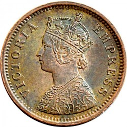 Moeda > ½pice, 1885-1901 - Índia - Britânica  - obverse