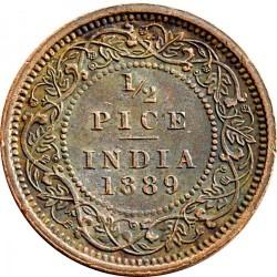 Moeda > ½pice, 1885-1901 - Índia - Britânica  - reverse