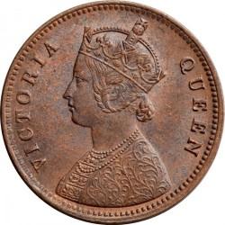Кованица > ¼ана, 1862-1876 - Индија - Британија  - obverse