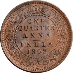 Кованица > ¼ана, 1862-1876 - Индија - Британија  - reverse