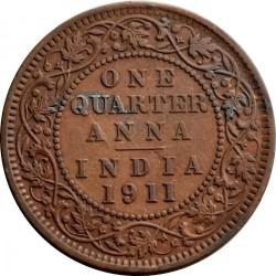 Moneta > ¼anos, 1911 - Indija - Britų  - reverse