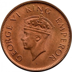 Moneta > ¼anna, 1940-1942 - India Britannica  - obverse