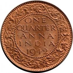Moneta > ¼anna, 1940-1942 - India Britannica  - reverse