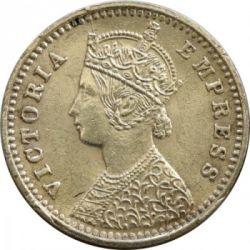 Monedă > 2anna, 1877-1901 - India Britanică  - obverse