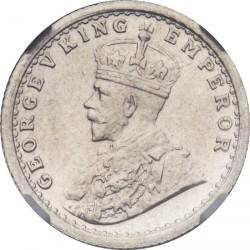 Moneta > ¼rupijos, 1911 - Indija - Britų  - obverse