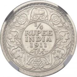 Moneta > ¼rupijos, 1911 - Indija - Britų  - reverse