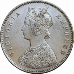 Minca > ½rupie, 1877-1899 - Britská India  - obverse