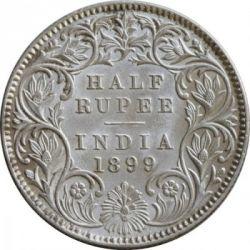 Minca > ½rupie, 1877-1899 - Britská India  - reverse