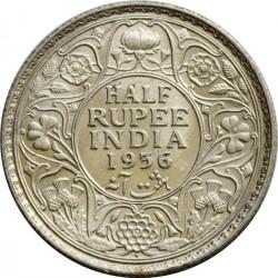 Coin > ½rupee, 1912-1936 - India - British  - reverse