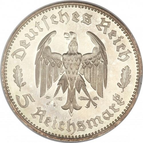 5 Reichsmark 1934 Friedrich Schiller Deutschland Drittes Reich