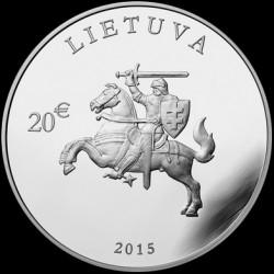 Moneta > 20euro, 2015 - Lituania  (25° anniversario - Indipendenza) - obverse