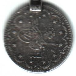 Moneta > 5kurus, 1876 - Impero ottomano  (Legatura in alto a destra della Tughra) - obverse