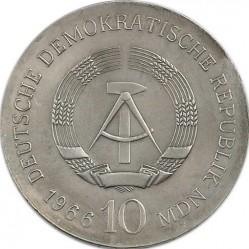 Moneda > 10marcos, 1966 - Alemania - RDA  (125º Aniversario - Muerte de Karl Friedrich Schinkel) - obverse