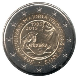 Moneda > 2euros, 2015 - Andorra  (30º Aniversario - Reforma de la Ley Electoral) - reverse