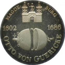 Moneda > 10marcos, 1977 - Alemania - RDA  (375 Aniversario - Nacimiento de Otto von Guericke) - reverse