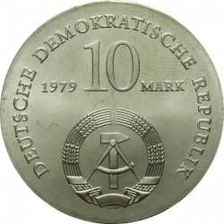 Moneda > 10marcos, 1979 - Alemania - RDA  (175º Aniversario - Nacimiento de Ludwig Feuerbach) - obverse