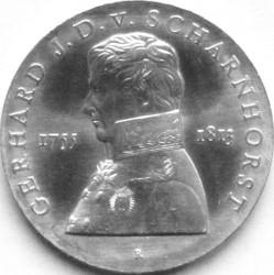 Moneda > 10marcos, 1980 - Alemania - RDA  (225º Aniversario - Nacimiento de Gerhard von Scharnhorst) - reverse