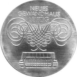 Moneda > 10marcos, 1982 - Alemania - RDA  (Gewandhaus en Leipzig) - reverse