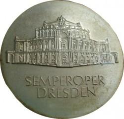 Moneda > 10marcos, 1985 - Alemania - RDA  (Reapertura de la Opera Semper en Dresden) - obverse