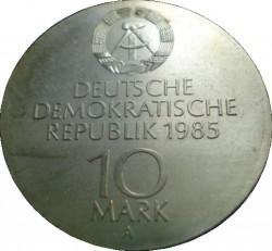 Moneda > 10marcos, 1985 - Alemania - RDA  (Reapertura de la Opera Semper en Dresden) - reverse