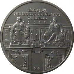 Moneda > 10marcos, 1985 - Alemania - RDA  (175º Aniversario - Universidad Humboldt de Berlín) - obverse