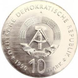 Moneda > 10marcos, 1990 - Alemania - RDA  (175º Aniversario - Muerte de Johann Gottlieb Fichte) - obverse