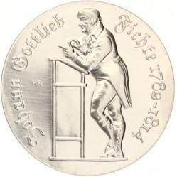Moneda > 10marcos, 1990 - Alemania - RDA  (175º Aniversario - Muerte de Johann Gottlieb Fichte) - reverse
