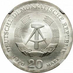 Moneda > 20marcos, 1970 - Alemania - RDA  (150º Aniversario - Nacimiento de Friedrich Engels) - obverse