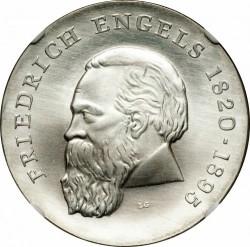 Moneda > 20marcos, 1970 - Alemania - RDA  (150º Aniversario - Nacimiento de Friedrich Engels) - reverse