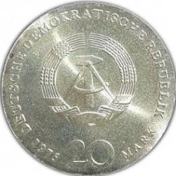 Moneda > 20marcos, 1975 - Alemania - RDA  (225º Aniversario - Muerte de Johann Sebastian Bach) - obverse
