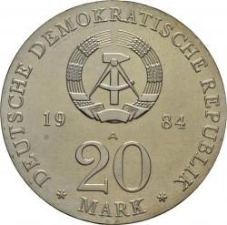 Moneda > 20marcos, 1984 - Alemania - RDA  (300º Aniversario - Nacimiento de George Frideric Handel) - obverse
