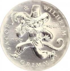 Moneda > 20marcos, 1986 - Alemania - RDA  (250º Aniversario - Nacimiento de los Hermanos Grimm) - reverse