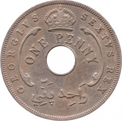 Moneda > 1penique, 1951 - África Occidental Británica  - reverse