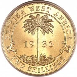 Moneda > 2shillings, 1920-1936 - Àfrica Occidental Britànica  - reverse