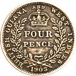 Moneda > 4pence, 1903-1910 - Guaiana britànica  - reverse