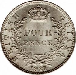 Moneta > 4pence, 1917-1936 - Guyana Britannica  - reverse