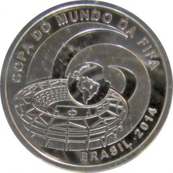 Moneta > 5reali, 2014 - Brazylia  (Mundial 2014 - Miasta) - obverse